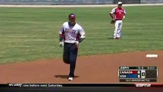 2011 slow pitch softball USA vs Canada