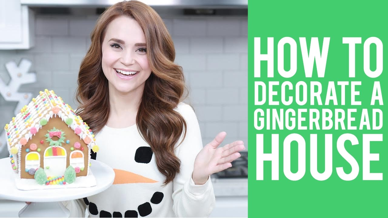 How to Decorate a Gingerbread House | Tutorial by Rosanna Pansino