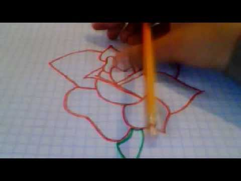Como dibujar una rosa youtube - Como secar una rosa ...