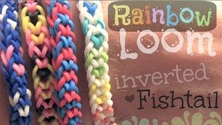 RAINBOW LOOM : Inverted Fishtail Bracelet - How To | SoCraftastic