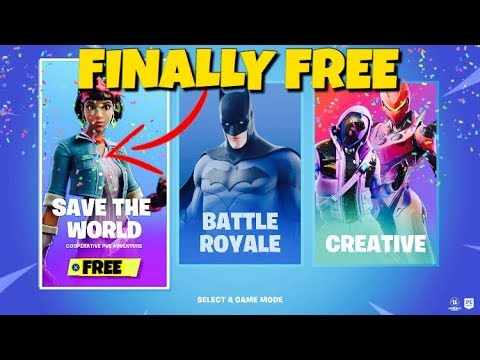 Fortnite Save The World Finally Free 2019 !!