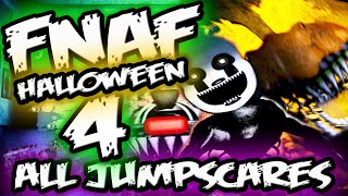 FNAF 4 Halloween Edition ALL JUMPSCARES Gameplay || Five Nights at Freddy's 4 Jumpscares