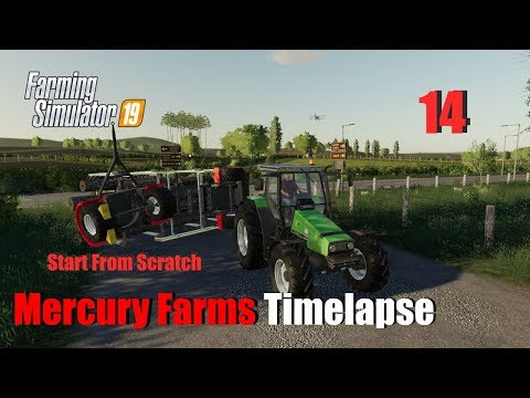 Farming Simulator 19 Timelapse Mercury Farms Start From Scratch EP14 Having an Accident