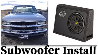 SUBWOOFER INSTALL : the how to video for installing a subwoofer