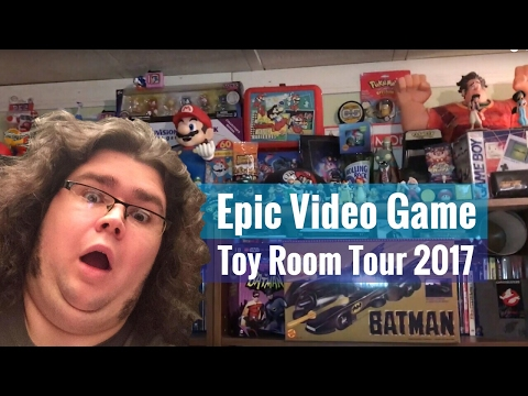 Epic Video Game & Toy Room Tour 2017 |Jerps93