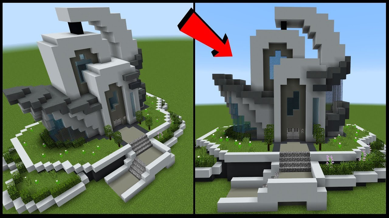 How To Build A FUTURISTIC House In Minecraft