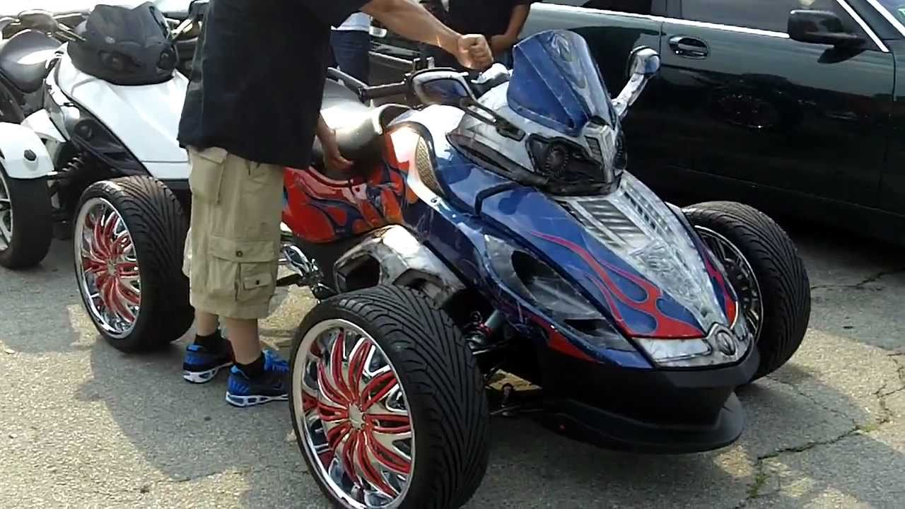 1st Four Wheel Can Am Spyder W Ridiculous System