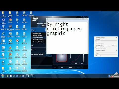 how to change brightness on windows xp