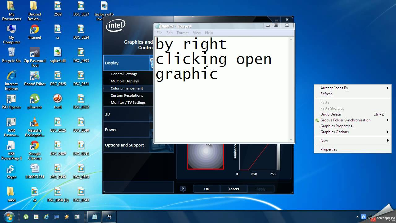 how to change the brightness on windows xp