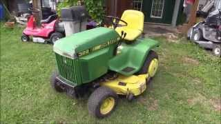 1992 John Deere 322 Garden Tractor Overview, Cold Start, & Drive