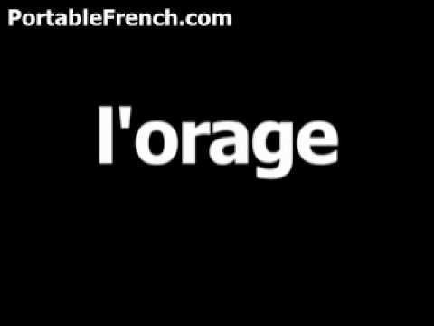French word for thunder is l'orage