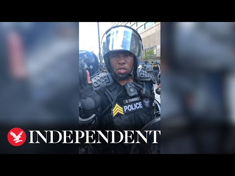 'I'd like to be out here helping you': Atlanta police officer mediates with George Floyd protesters