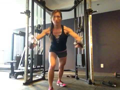 Standing Cable Chest Press Mid High Pulley Youtube