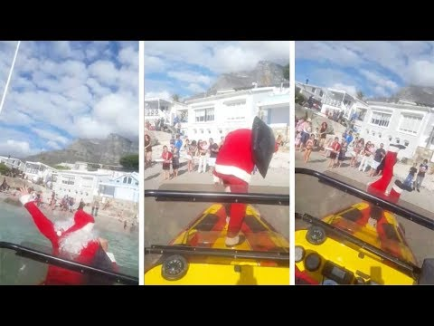Dave Hill - Just In Time For The Boat Parade,  a Santa Falling Off a Boat
