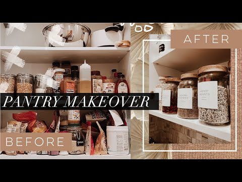 Kitchen Pantry Makeover Organize With Me Goodtobeahome Youtube
