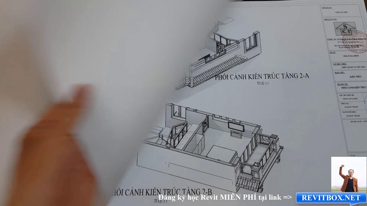 Bản Vẽ Mẫu Nhà 3 Tầng Đẹp Làm Bằng Phần Mềm Revit 2017-2018-2019