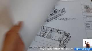 Bản Vẽ Mẫu Nhà 3 Tầng Đẹp Làm Bằng Phần Mềm Revit 2018 l Revitbox.net