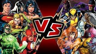 Justice League VS X-Men   BATTLE ARENA