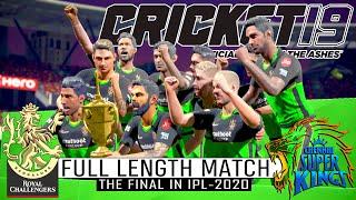 """The Final"" In IPL-2020 | RCB vs CSK Full Length Match | Cricket 19"