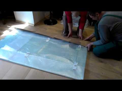 Разборка и упаковка стеклянного стола - «Переезд 01»