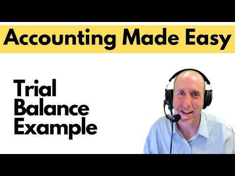 FA12 - The Trial Balance Example