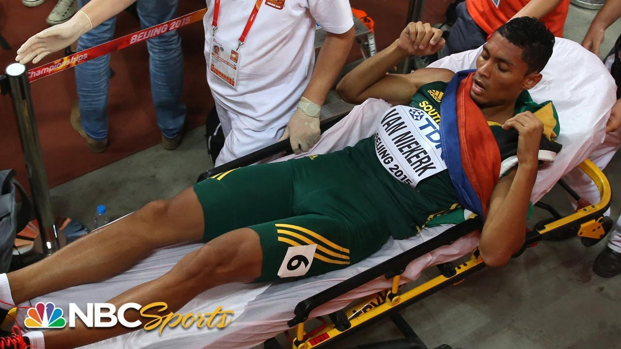 From the finish line to the hospital: Wayde Van Niekerk's wild 2015 world title | NBC Sports