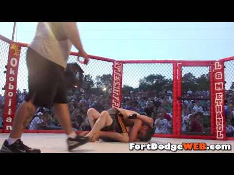 Matt Montgomery Wins (Fight #9) 2010 MMA Event at Mineral City Speedway in Fort Dodge