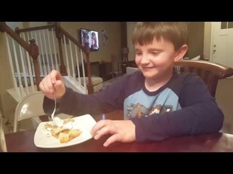 Joey eating pie