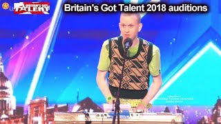 Robert White FUNNY NAUGHTY Comedian/singer  Auditions Britain's Got Talent 2018 S12E01