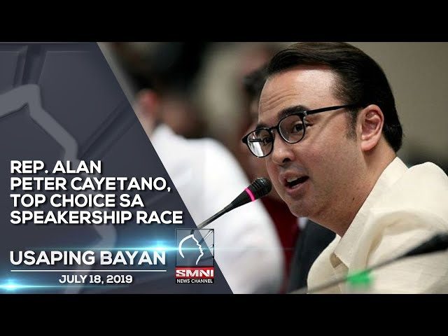 REP. ALAN PETER CAYETANO, TOP CHOICE SA SPEAKERSHIP RACE FINAL