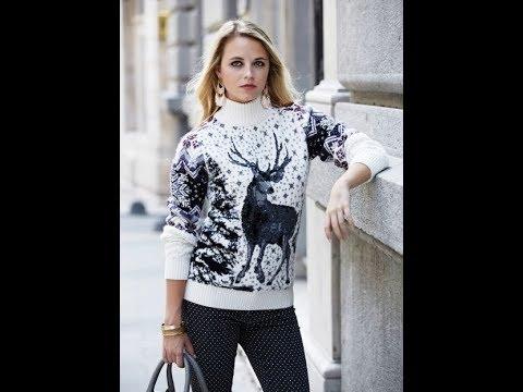 Вязаный Свитер Спицами с Оленями - 2019 / Knitted Sweater Knitting With Deer