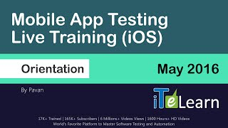 Mobile App Testing Live Training (IOS) Day01 for beginners