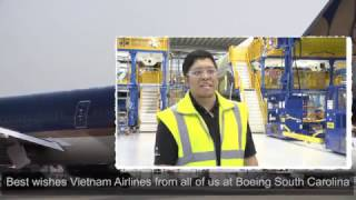 Vietnam Airlines - the 10th Boeing 787 Dreamliner at South Carolina