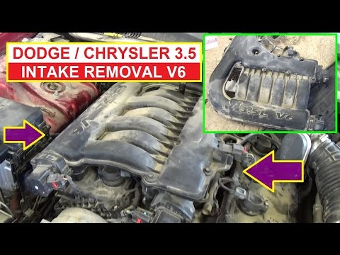 Intake Removal and Replacement on Dodge 3.5 v6 Dodge Charger Dodge Magnum  Chrysler 300 - YouTubeYouTube