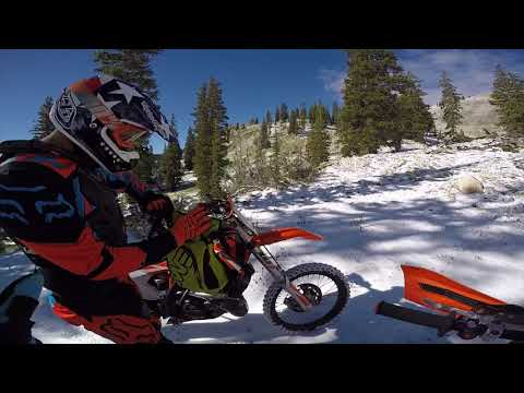 Finding the Snow Line on our Dirt Bikes