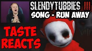 TASTE REACTS #5 - SLENDYTUBBIES 3 SOUNDTRACK: RUN AWAY - OUTSKIRTS DAY | SPIDER PO OST FIGHT MUSIC