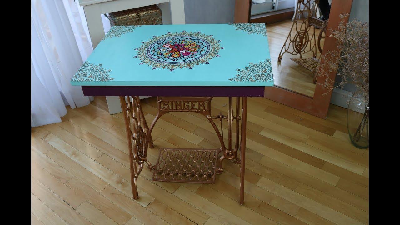 Reciclar mesa de maquina de coser - Pintura Tiza