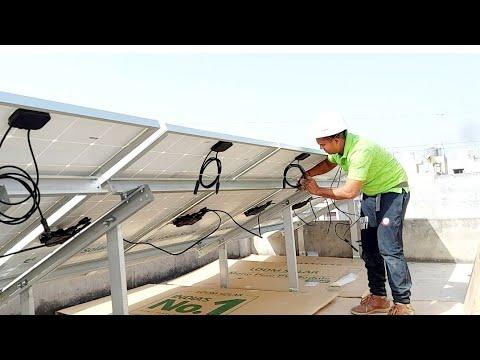 5 kilowatt solar system AC module installation  solar panel in Delhi