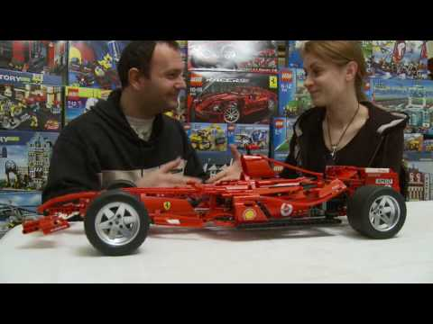 lego 8674 ferrari f1 racer 1 8 youtube. Black Bedroom Furniture Sets. Home Design Ideas