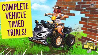 Complete Vehicle Timed Trials! ALL 3 LOCATIONS WEEK 10 CHALLENGES FORTNITE SEASON 6! 10 BATTLE STARS