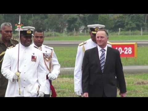 New Zealand Prime Minister Honourable John Key arrives in Nausori Airport, Fiji.