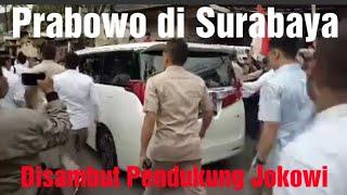 Prabowo di Surabaya Hari Ini, Disambut Pendukung 01, Tapi Ternyata...