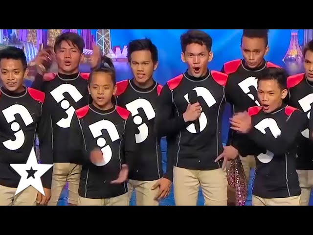 PHILIPPINES Dance Group Junior New System Auditions BLOW THE JUDGES AWAY On Asia's Got Talent