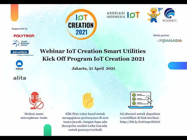 Webinar IoT Creation Smart Utilities – Kick off Program IoT Creation 2021