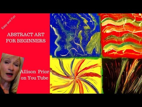 Acrylic Painting Lesson ABSTRACT painting on canvas ideas, tips and tricks, for beginners