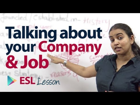 How to talk about your company & job? - Free English Speaking & Vocabulary lesson.