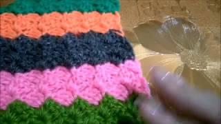 Узор для вязания пледа Радужная сказка
