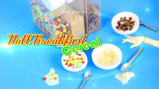 DIY - How to Make:  Doll Breakfast: Cereal - Handmade - Doll - Crafts