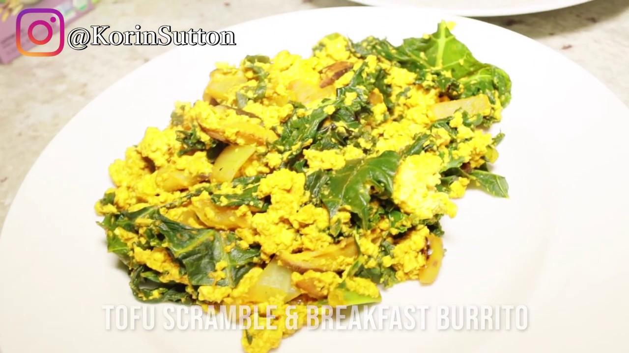 Tofu Scramble & Breakfast Burrito