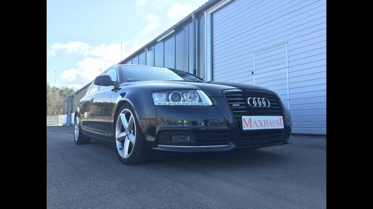audi a6 4f 3 0tdi and maxhaust soundbooster active sound